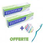 LOT DE 2 Elgydium Dentifrice Protection Caries (75 Ml) + BROSSE À DENTS OFFERTE
