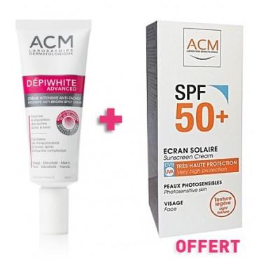 ACM Dépiwhite Crème - advanced Soin Dépigmentant (40ml) + Ecran solaire spf50+ Offert