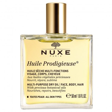 NUXE HUILE PRODIGIEUSE 50ml Soin Multi-Fonctions - Visage, Corps, Cheveux