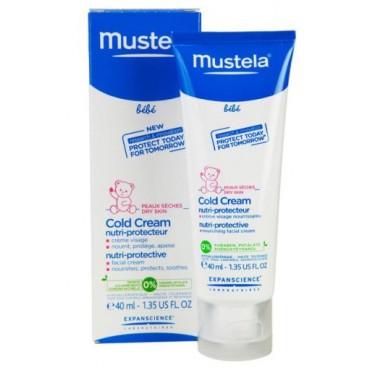 MUSTELA COLD CREAM 40ml Crème Protectrice Et Ultra-Hydratante