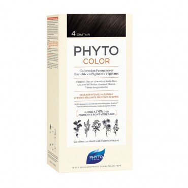 PHYTO PHYTOCOLOR COLORATION PERMANENTE  4 Chatain NF