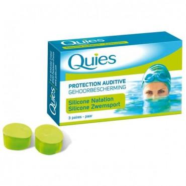 QUIES SILICONE NATATION ADULTE 3 Paires
